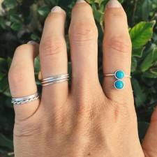 Turquoise Domino Ring